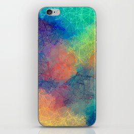 Reflecting Multi Colorful Abstract Prisms Design iPhone Skin