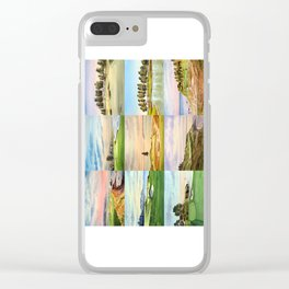Famous Golf Courses In The USA Collage Clear iPhone Case