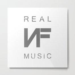 NF REAL MUSIC Metal Print