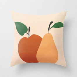 An Apple and a Pear Throw Pillow