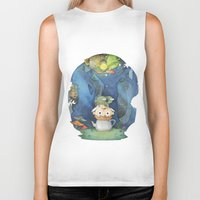 over the garden wall Biker Tanks featuring Over the Garden Wall by zaMp