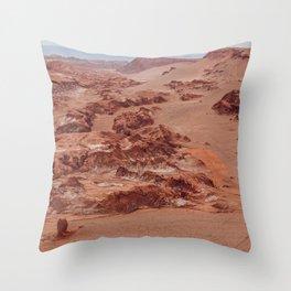 Valle de la Luna, Chile Throw Pillow