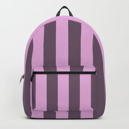pink and grey stripes Backpack