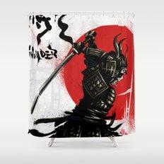 Samurai Invader Shower Curtain