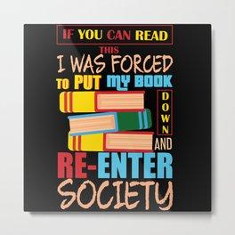 Book Real Life Funny Metal Print