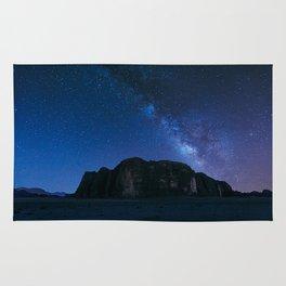 Milky Way Over Wadi Rum Rug