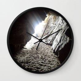 Light in Maghera Caves Ireland Wall Clock