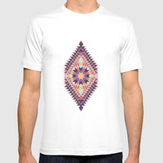 Ticky Ticky White MEDIUM Mens Fitted Tee