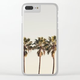 Golden Palms Clear iPhone Case