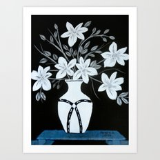 White flowers Art Print