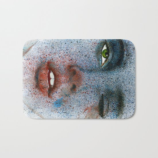 Space girl Bath Mat