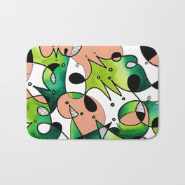 Beige Abstract Critters Bath Mat