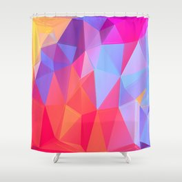 Vertices 8 Shower Curtain