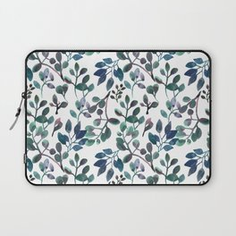 Jade and Succulent Watercolor Plant Pattern Laptop Sleeve