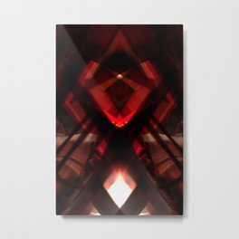 barabar  photo rorschach symmetry Metal Print