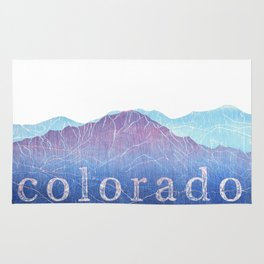 Colorado Mountain Ranges_Pikes Peak + Continental Divide Rug