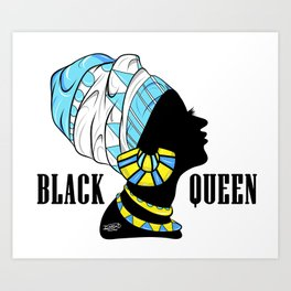 BlackQueen (Blue) Art Print