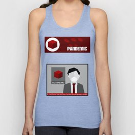 Pandemic - Red Unisex Tank Top