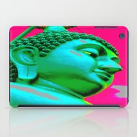 buddah iPad Cases featuring Buddah Head 05; Pink Dachori by Kether Carolus