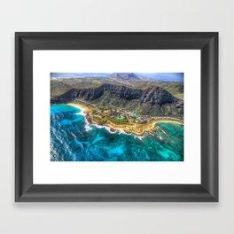 "Aerial view of ""Sea life Park"" Framed Art Print"