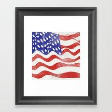 United States Flag - USA Framed Art Print