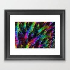 Rainbow Leaves Framed Art Print