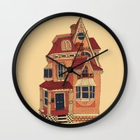 victorian Wall Clocks featuring Victorian House by Syrupea