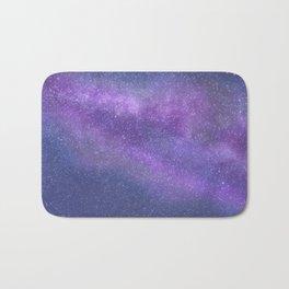 Deep Purple Milky Way Stars Bath Mat