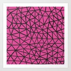 Segment A Pink Art Print