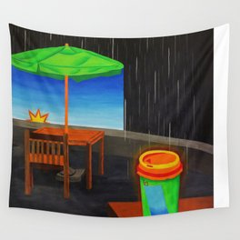 Hot Coffee on a Dreary Day Wall Tapestry