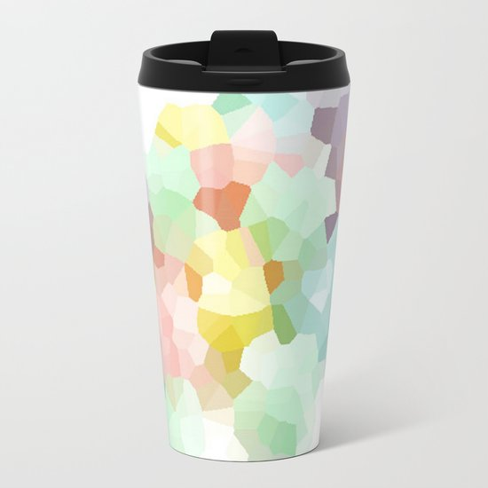 Pastel Abstract Metal Travel Mug