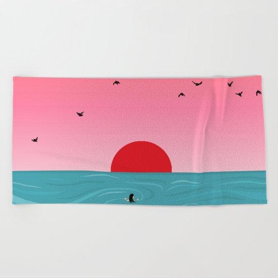 Tempus fugit Beach Towel