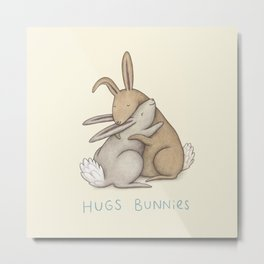 Hugs Bunnies Metal Print