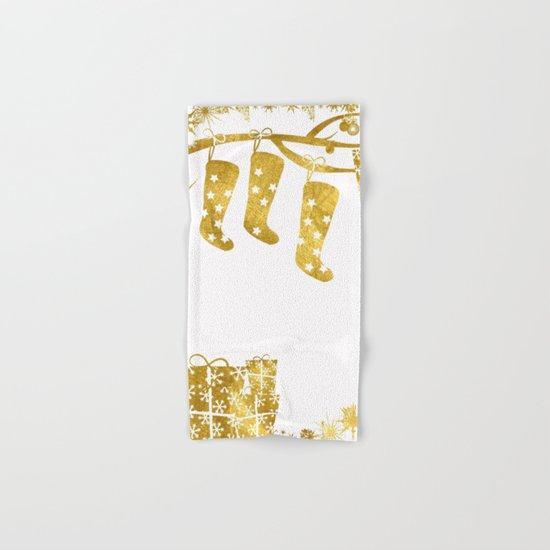 Gold Christmas 02 Hand & Bath Towel