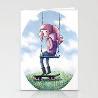 princess bubblegum Stationery Cards featuring bubblegum princess by Martina Naldi