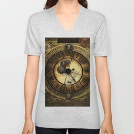 Steampunk design Unisex V-Neck