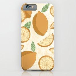 Lemons on Lemon iPhone Case