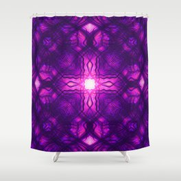 Kaleidoscope cross pattern Shower Curtain