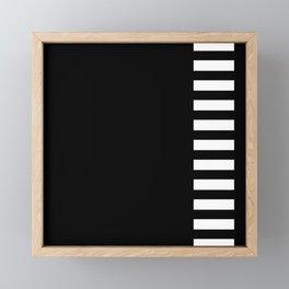 film strip (white on black) Framed Mini Art Print