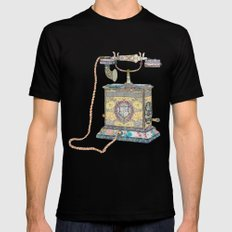 waiting for your call since 1896 Mens Fitted Tee Black MEDIUM