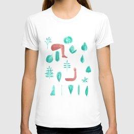 Leaf shape limb chart T-shirt