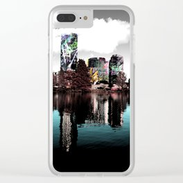 Duplicity (Austin Skyline) Clear iPhone Case