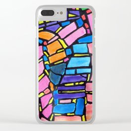 Stained Glass Montage Clear iPhone Case