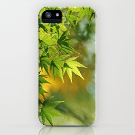 Japanese Maple Fresh Leaves photography iPhone Case