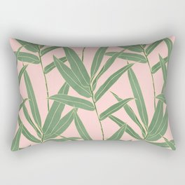 Elegant bamboo foliage design Rectangular Pillow