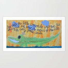 little crocodile Art Print