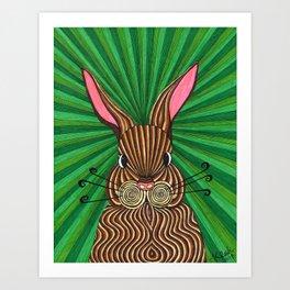 Down the Rabbithole Art Print