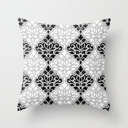 Scroll Damask Pattern BWG Throw Pillow