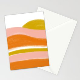morning sunrise stripes Stationery Cards
