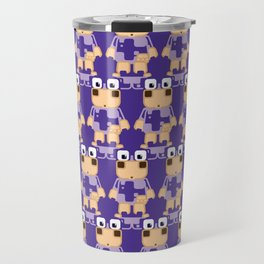 Super cute cartoon cow in purple - a moo-st have design for cow enthusiasts! Travel Mug
